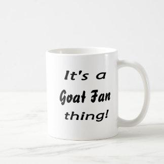 ¡Es una cosa de la fan de la cabra! Taza Básica Blanca