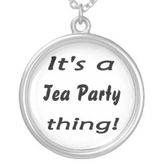 ¡Es una cosa de la fiesta del té! Colgante Redondo