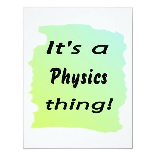 ¡Es una cosa de la física! Invitación 10,8 X 13,9 Cm