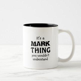 Es una cosa de la marca que usted no entendería taza de dos tonos