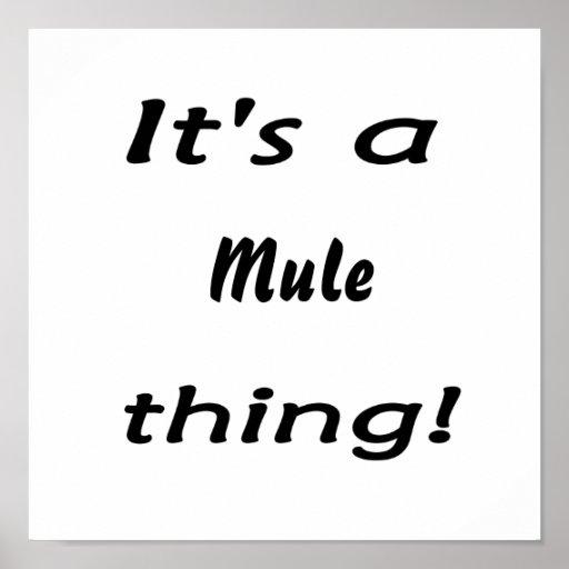 ¡Es una cosa de la mula! Impresiones