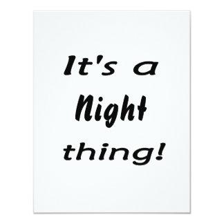 """¡Es una cosa de la noche! Invitación 4.25"""" X 5.5"""""""