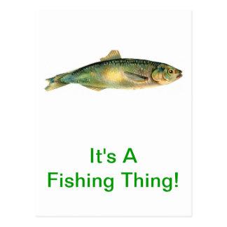 Es una cosa de la pesca tarjetas postales