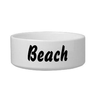 ¡Es una cosa de la playa! Tazón Para Agua Para Gatos