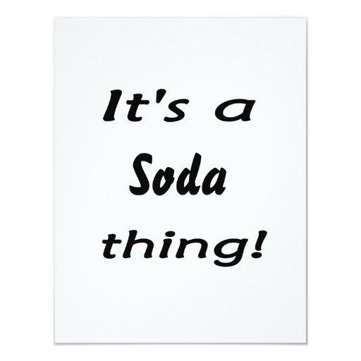 ¡Es una cosa de la soda! Invitación 10,8 X 13,9 Cm
