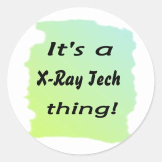 Es una cosa de la tecnología de la radiografía etiquetas redondas
