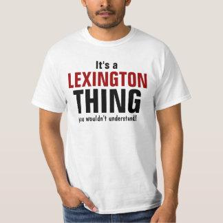 Es una cosa de Lexington que usted no entendería Polera