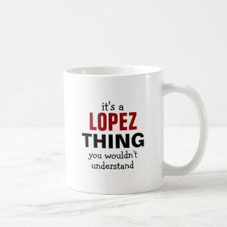 Es una cosa de López que usted no entendería Taza