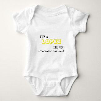 ¡Es una cosa de LÓPEZ! Usted no entendería Mameluco De Bebé