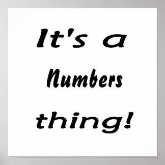 ¡Es una cosa de los números! Póster