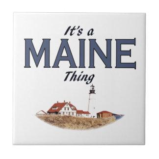 Es una cosa de Maine - faro Azulejo Cuadrado Pequeño