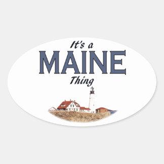 Es una cosa de Maine - faro Pegatina Ovalada