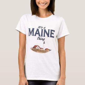 Es una cosa de Maine - faro Playera