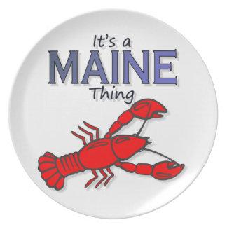 Es una cosa de Maine - langosta Platos Para Fiestas