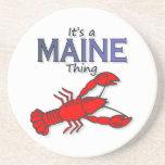 Es una cosa de Maine - langosta Posavasos Manualidades