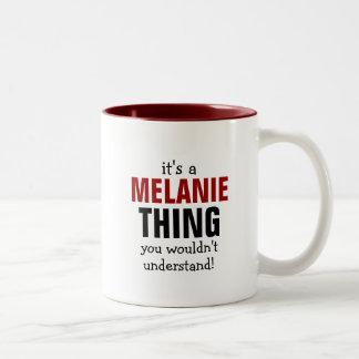 Es una cosa de Melanie que usted no entendería Tazas