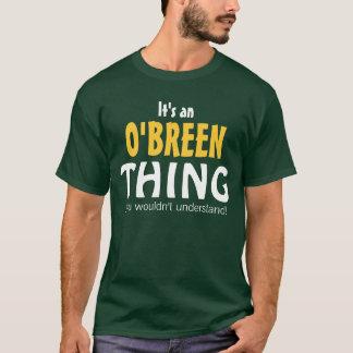 Es una cosa de O'Breen que usted no entendería Playera