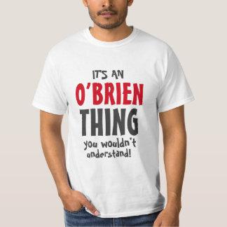 Es una cosa de O'Brien que usted no entendería Polera
