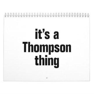 es una cosa de thompson calendarios
