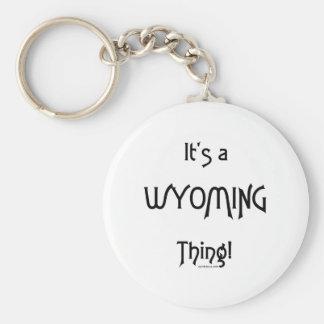 ¡Es una cosa de Wyoming! Llaveros