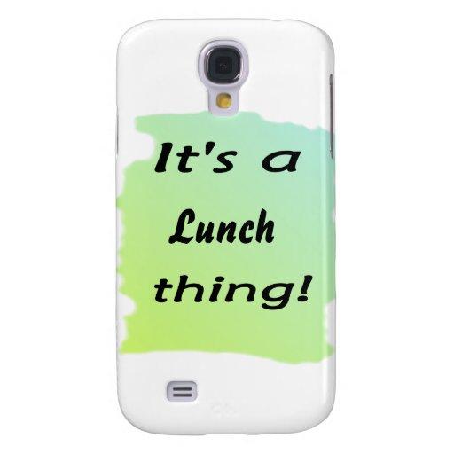¡Es una cosa del almuerzo! Funda Para Galaxy S4