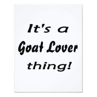 ¡Es una cosa del amante de la cabra! Invitación 10,8 X 13,9 Cm