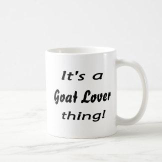 ¡Es una cosa del amante de la cabra! Taza Básica Blanca