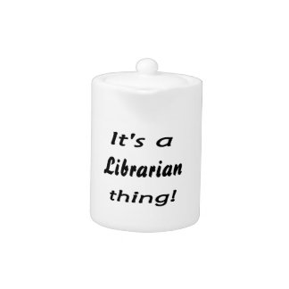 ¡es una cosa del bibliotecario