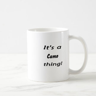 ¡Es una cosa del camo! Taza De Café