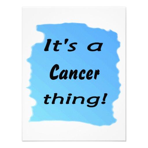 ¡Es una cosa del cáncer! Invitación