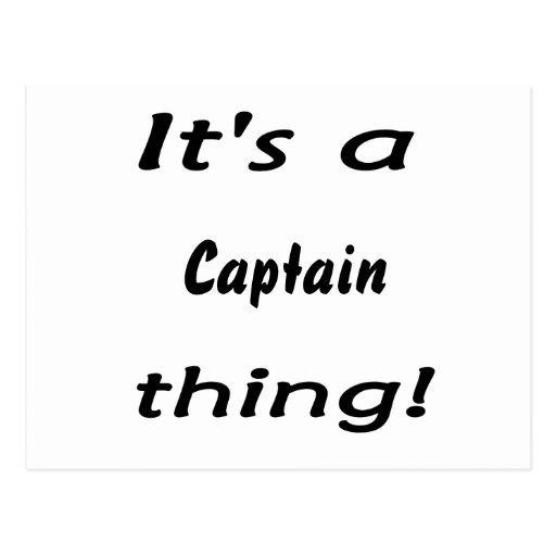 ¡Es una cosa del capitán! Tarjeta Postal