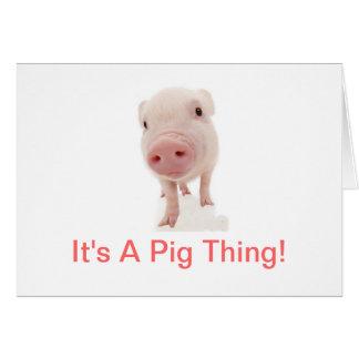Es una cosa del cerdo felicitacion