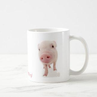Es una cosa del cerdo tazas de café