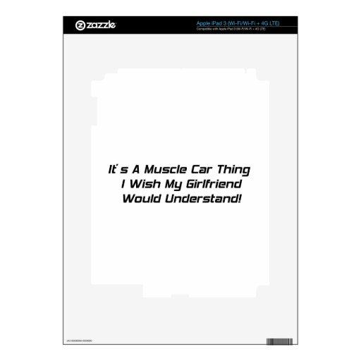 Es una cosa del coche del músculo que deseo que mi iPad 3 skins