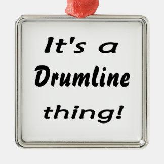 ¡Es una cosa del drumline! Adorno Navideño Cuadrado De Metal