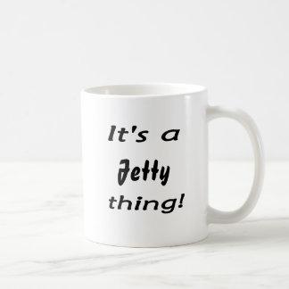 ¡Es una cosa del embarcadero! Taza De Café