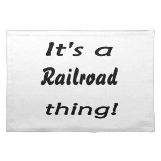 ¡Es una cosa del ferrocarril! Manteles