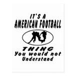 Es una cosa del fútbol americano que usted no deba tarjeta postal