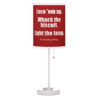 Es una cosa del hockey lámpara de mesa