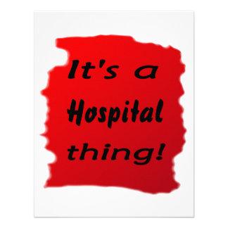 ¡Es una cosa del hospital Comunicado Personalizado