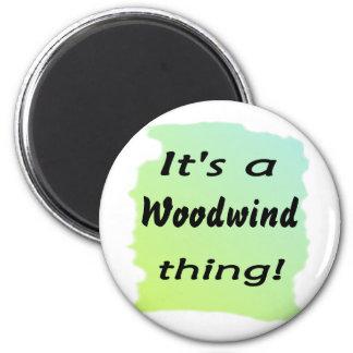 ¡Es una cosa del instrumento de viento de madera! Imán De Nevera