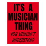 Es una cosa del músico posters