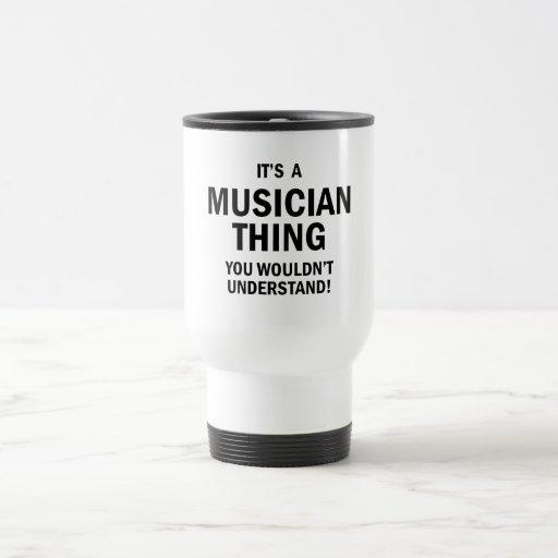 Es una cosa del músico tazas