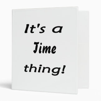¡Es una cosa del tiempo!