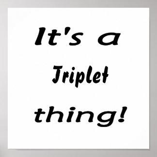 ¡Es una cosa del trío! Poster