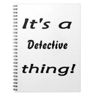 ¡Es una cosa detective! Libros De Apuntes
