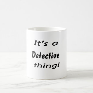 ¡Es una cosa detective! Taza De Café