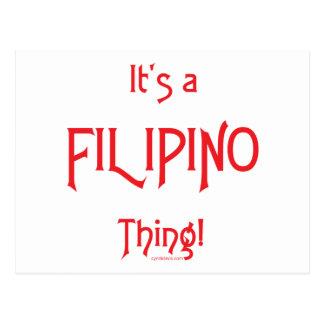 ¡Es una cosa filipina! Tarjeta Postal