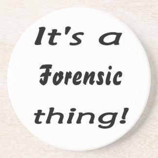 ¡Es una cosa forense! Posavasos Personalizados