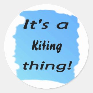¡Es una cosa kiting! Etiquetas Redondas